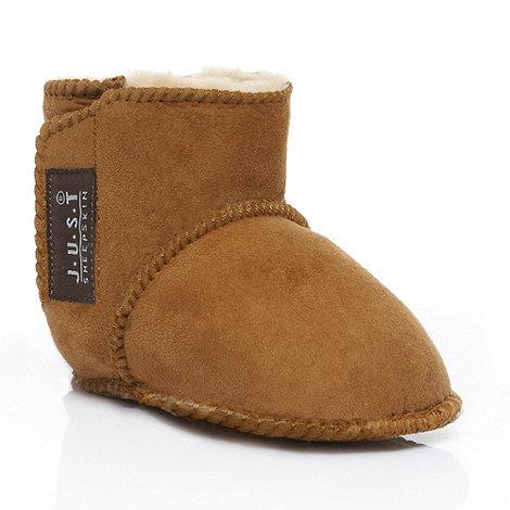 Just Sheepskin - Babies tan Adelphi Sheepskin Booties