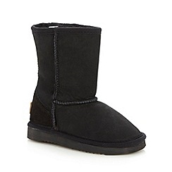 Just Sheepskin - Girl's black sheepskin boots