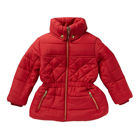 bluezoo - Girl+s red quilted coat