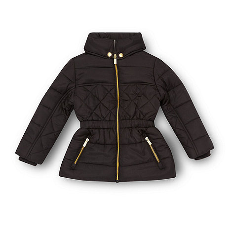 bluezoo - Girl+s black quilted coat