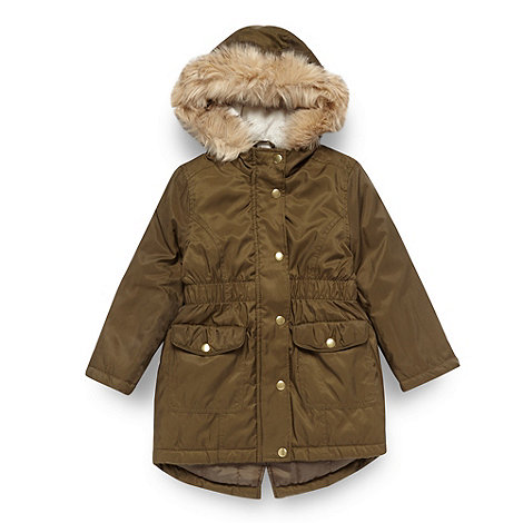 bluezoo - Girl+s khaki parka jacket