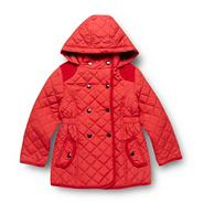 Girl's red quilted coat