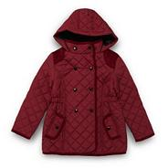Girl's maroon quilted coat
