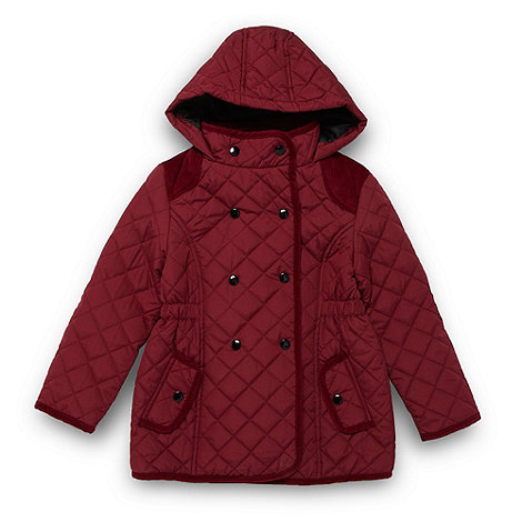 bluezoo - Girl+s maroon quilted coat