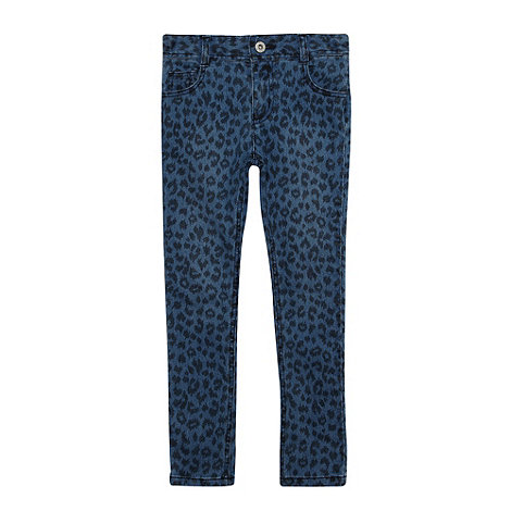 bluezoo - Girl+s blue animal jeans