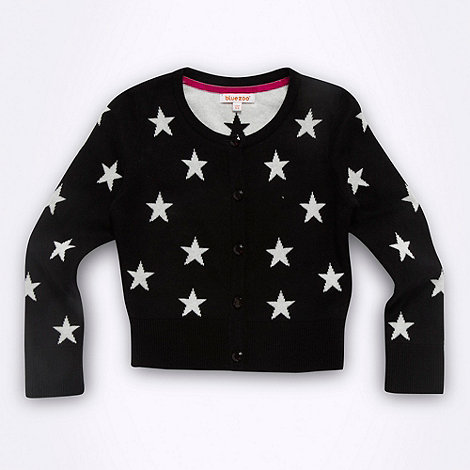 bluezoo - Girl+s black star cardigan