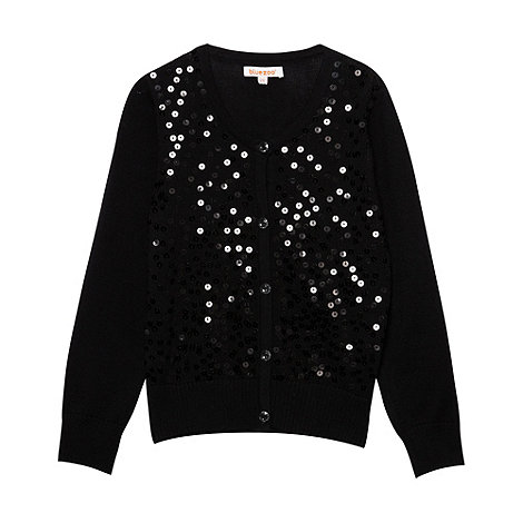 bluezoo - Girl+s black sequin cardigan