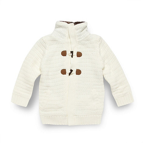 Mantaray - Girl+s off white funnel neck cardigan