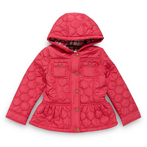 bluezoo - Girl+s dark pink oval quilted coat