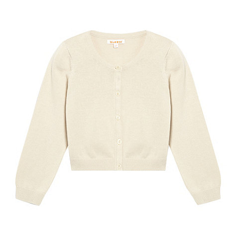 bluezoo - Girl+s beige knitted soft cardigan