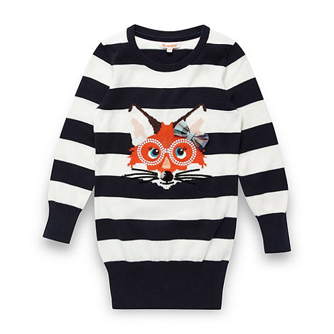 bluezoo - Girl+s navy fox knit tunic