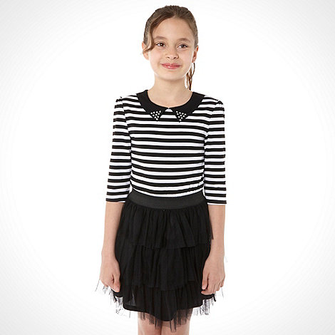 bluezoo - Girl+s black studded collar dress