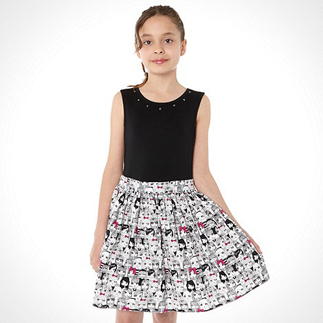 bluezoo - Girl+s multi printed skirt dress