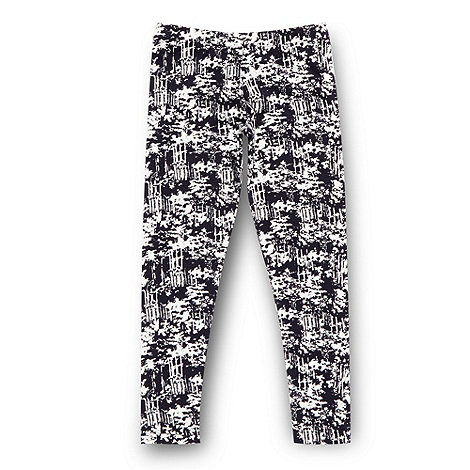 bluezoo - Girl's navy ink print leggings