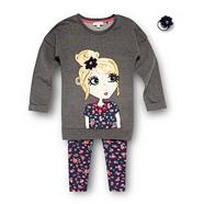 Girl's dark grey girl jumper