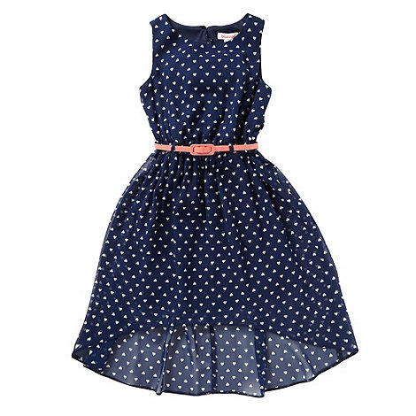 bluezoo - Girl+s navy heart dress