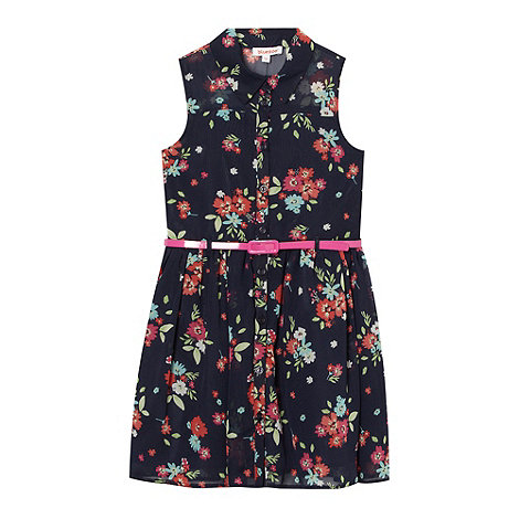 bluezoo - Girl+s navy floral printed dress