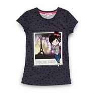 Girl's dark grey 'J'adore Paris!' t-shirt