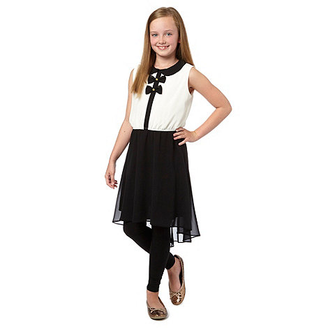 bluezoo - Girl's black bow dress