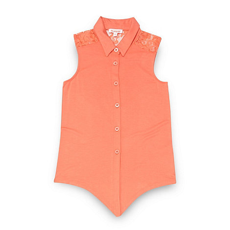 bluezoo - Girl+s coral lace shoulder shirt