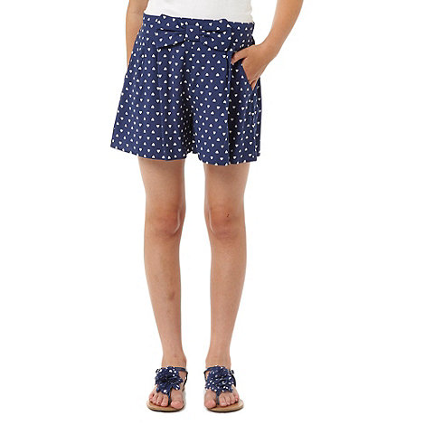 bluezoo - Girl+s navy heart shorts