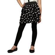 Girl's black poodle rara skirt