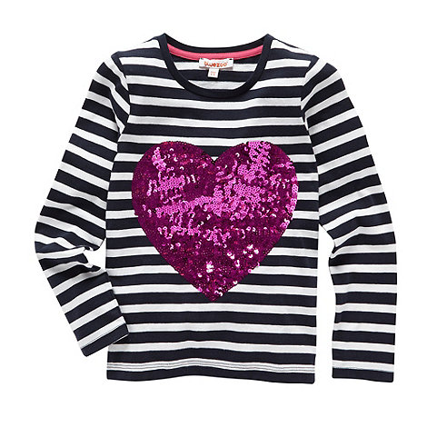 bluezoo - Girl+s off white striped heart top