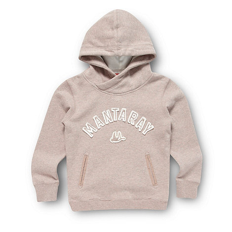 Mantaray - Girl+s beige chunky applique hoodie