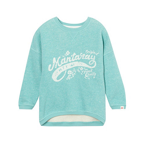 Mantaray - Green girl+s logo jumper