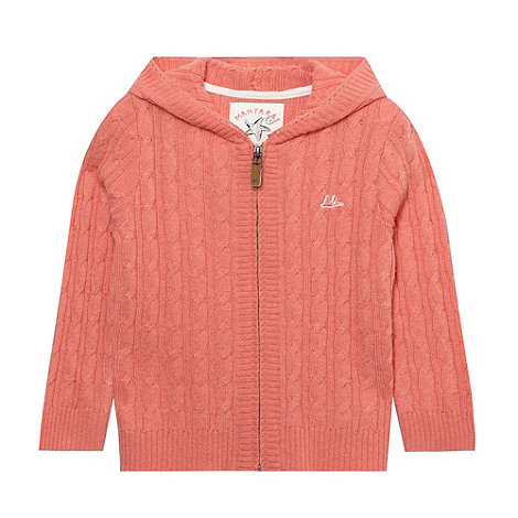 Mantaray - Girl+s light pink cable hooded cardi
