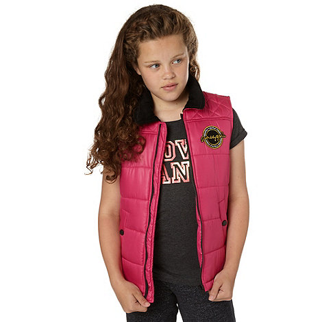 Pineapple - Girl+s pink quilted gilet