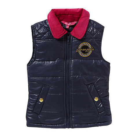 Pineapple - Girl+s navy quilted jacket