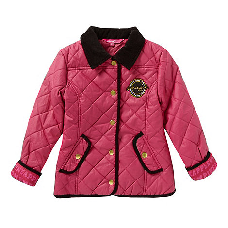 Pineapple - Girl+s pink diamond quilted jacket
