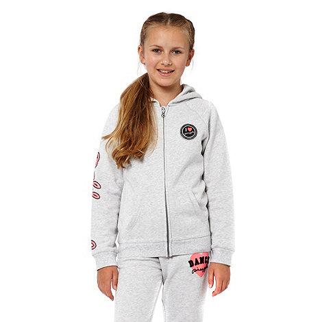 Pineapple - Girl+s grey zip through hoodie