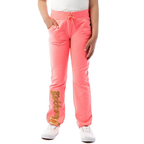Pineapple - Girl's coral cuffed jogging bottoms