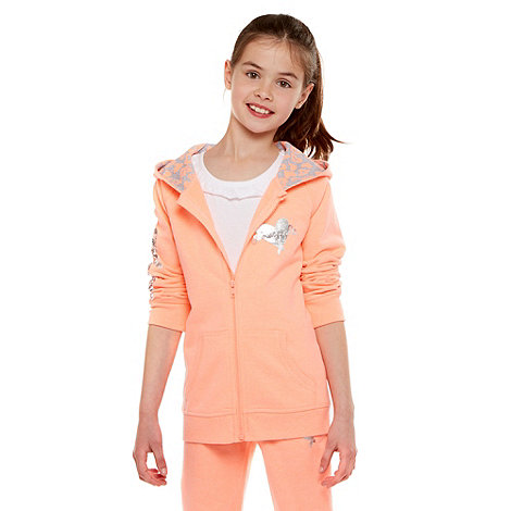 Pineapple - Girl+s coral zip through hoodie