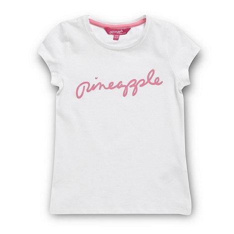 Pineapple - Girl+s white logo t-shirt
