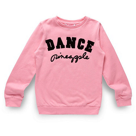 Pineapple - Girl+s pink logo jumper