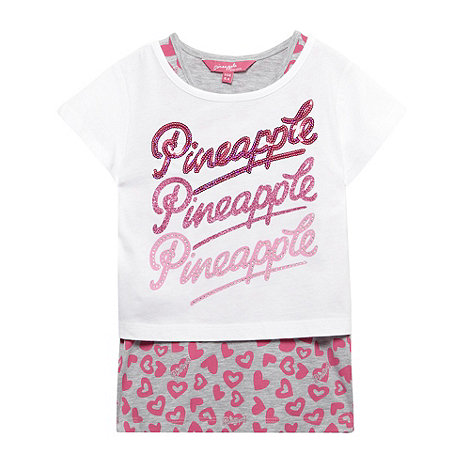 Pineapple - Girl+s white logo top