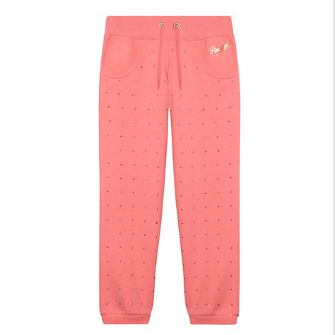 Pineapple - Girls Pink Studded Jogger