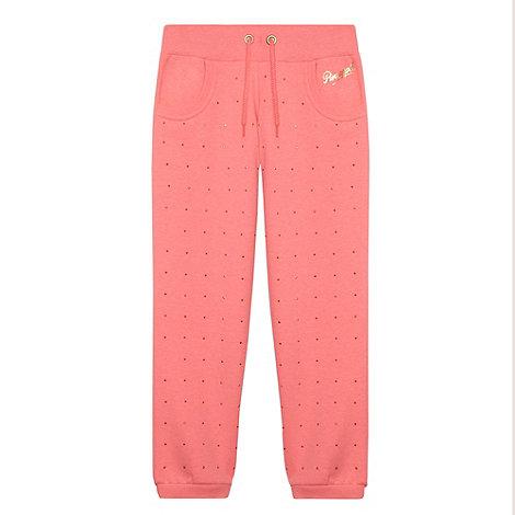 Pineapple - Girls Pink Studded Jogger