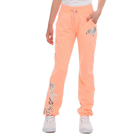 Pineapple - Girl+s coral skinny cuff joggers