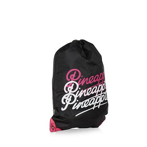 Pineapple - Girl+s black gym bag