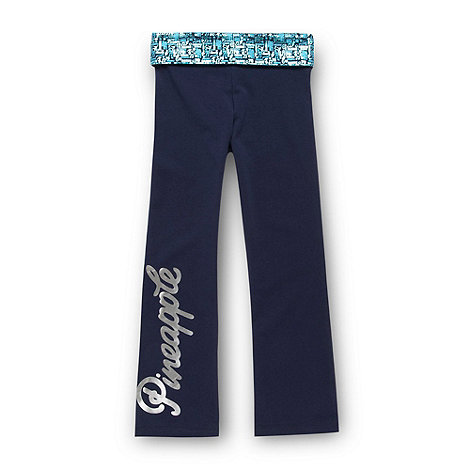 Pineapple - Navy fold down jogging bottoms