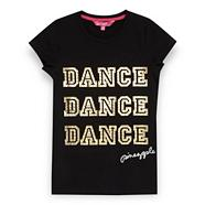 Girl's black 'Dance' t-shirt