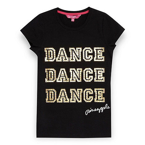 Pineapple - Girl+s black +Dance+ t-shirt