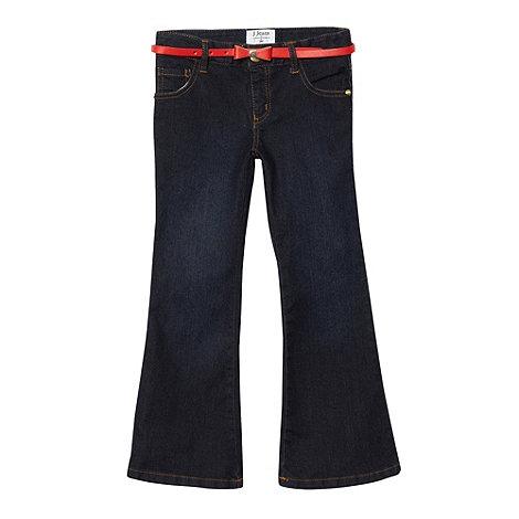 J by Jasper Conran - Designer girl+s navy flare jeans
