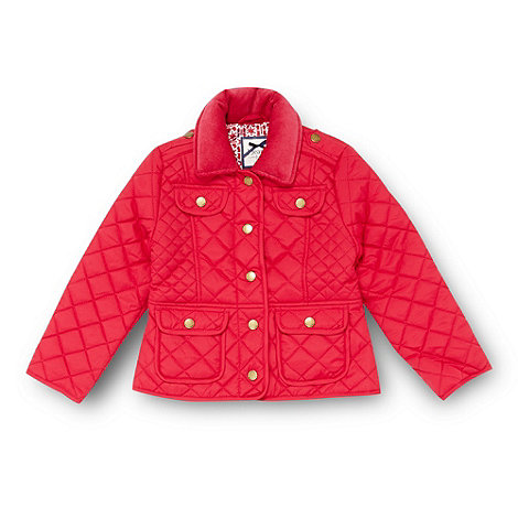 J by Jasper Conran - Designer girl+s dark pink quilted jacket