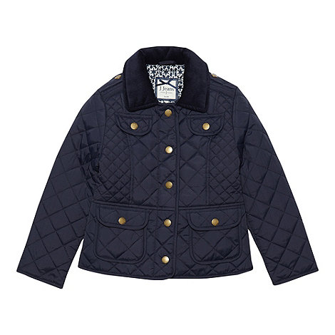 J by Jasper Conran - Girl+s navy quilted jacket