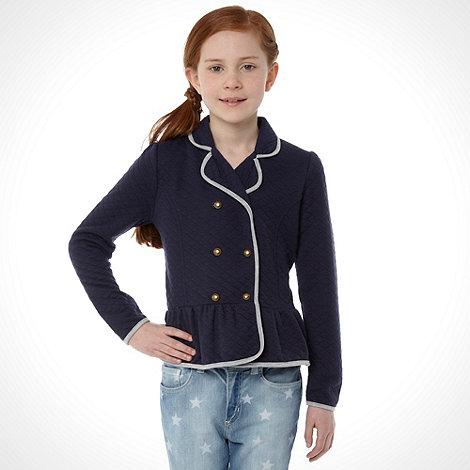 J by Jasper Conran - Girl+s navy peplum blazer
